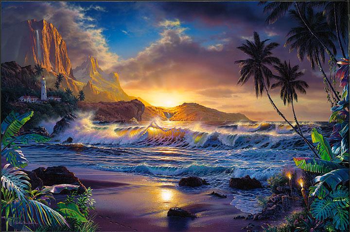Tropical Island Beach Ocean Sunset: The Islamic Community